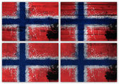 Norway flag collage — Stock Photo