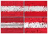 Austria flag collage — Stock Photo