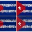 Cuba flag collage — Stock Photo #13436398