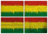 Bolivia flag collage — Stock Photo