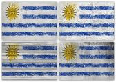 Uruguay flag collage — Stock Photo