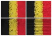 Belgium flag collage — Stock Photo