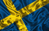 Silk Flag of Sweden — Stock Photo