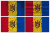 Moldova flag collage — Foto Stock