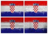 Croatia flag collage — Foto Stock