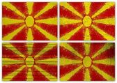 Macedonia flag collage — Fotografia Stock