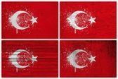 Turkey flag collage — Stock Photo