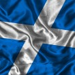 Stock Photo: Silk Flag of Scotland