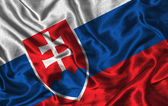 Silk Flag of Slovakia — Stock Photo