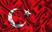 Silk Flag of Turkey — Stock Photo