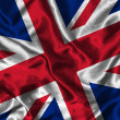 Silk Flag of Great Britain - ストック写真