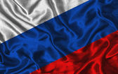 Silk Flag of Russia — Stock Photo