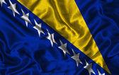 Silk Flag of Bosnia and Herzegovina — Stock Photo