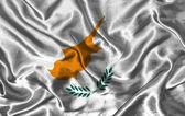 Silk Flag of Cyprus — Stock Photo