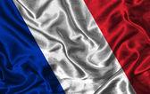 Silk Flag of France — Stock Photo