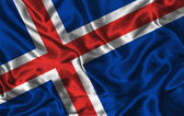 Seta bandiera dell'islanda — Foto Stock