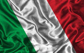 Silk Flag of Italy — Stock Photo
