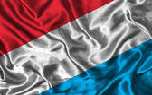 Silk Flag of Luxembourg — Stock Photo