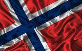 Silk Flag of Norway — Stock Photo