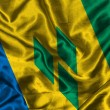 Silk Flag of Saint Vincent and the Grenadines — Stock Photo
