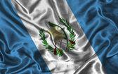 Silk Flag of Guatemala — Stock Photo