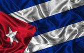 Hedvábné vlajka kuby — Stock fotografie