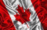 Silk Flag of Canada — Zdjęcie stockowe