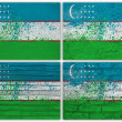 Uzbekistan flag collage — Stock Photo
