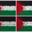 Palestine flag collage — Stock Photo