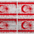 Northern Cyprus flag collage — Stock Photo