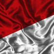 Silk Flag of Indonesia - Stock Photo