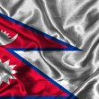 Silk Flag of Nepal — Stock Photo