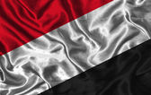 Silk Flag of Yemen — Stock Photo
