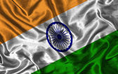 Silk Flag of India — Stock Photo