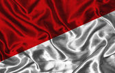 Silk Flag of Indonesia — Fotografia Stock