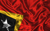 Silk Flag of East Timor — Stock Photo