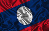 Silk Flag of Laos — Stock Photo