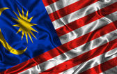 Silk Flag of Malaysia — Stock Photo