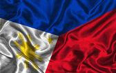 Silk Flag of Philippines — Stock Photo