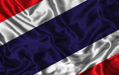 Silk Flag of Thailand — Stock Photo