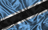 Silk Flag of Botswana — Stock Photo