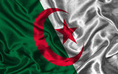 Silk Flag of Algeria — Stock Photo