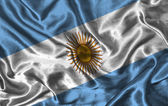 Silk Flag of Argentina — Stock Photo