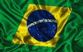 Silk Flag of Brazil — Stock Photo
