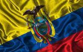 Silk Flag of Ecuador — Stock Photo
