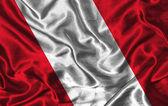 Silk Flag of Peru — Stock Photo