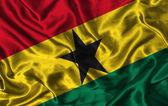 Silk Flag of Ghana — Stock Photo