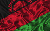 Silk Flag of Malawi — Stock Photo