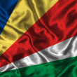 Royalty-Free Stock Photo: Silk Flag of Seychelles