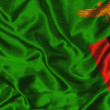 Silk Flag of Zambia — Stock Photo